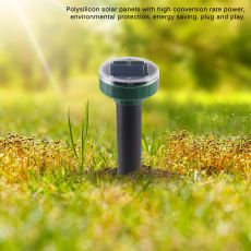 4pcs Solar Powered Pest Reject Ultrasonic Sonic Mouse Mole Insect Pest Rodent Repellent LED Light Repeller Outdoor Lamp Garden