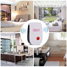 Enhanced Version Electronic Cat Ultrasonic Anti Mosquito Insect Repeller Rat Mouse Cockroach Pest Reject Repellent EU/US Plug @2