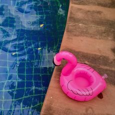 Summer  Inflatable Flamingo Cup Holders Swimming Float Circle Swimming Pool Party For Adult Pool Float Drink Holder