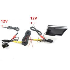 GSPSCN Car Parking Assistance 5 inch Rear View Monitor Car Reversing Rearview Backup Camera LED infrared  Rubber Cup + Bracket