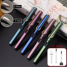 1Piece 0.38/0.5mm Positive Pens Colorful Starry Ink Sac Fountain Pens  For Kids Writing School Office Supplies Korean Stationery