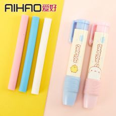 1set Novelty Pen Shaped Rubber Earsers School Stationery Pencil Eraser Office Accessories Kids Learning Supplies