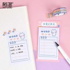30 Sheets/pack Cute Weekly & Daily Schedule Mini Memo Pad N Times Sticky Notes Bookmark School Office Supply Escolar Papelaria
