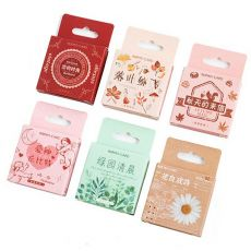 45PCS Shine Flowers Become Poems Memo Pad Bookmark Sticky Note Kawaii Posted Planner Stationery School Supplies Paper Stickers