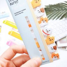 Kawaii Memo Pad Bookmarks Creative Cute Cat Panda Sticky Notes index Posted It Planner Stationery School Supplies Paper Stickers