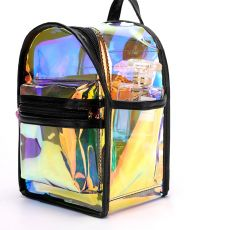 2020 New Laser Transparent PVC  Mini Clear Backpack For Women Shoulder Bag Candy Colorful Travel Transparent Waterproof Backpack