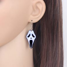 Bonsny Acrylic Halloween Howling Ghost Earrings Dangle Drop Big Long Fashion Jewelry For Women Girl Ladies Teens Kid Accessories