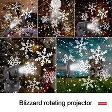 Christmas Snowflake Laser Light Snowfall Projector Move Snow Outdoor Indoor Garden Laser Projection Lights New Year Party Decora