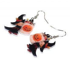 WEVENI Acrylic Halloween Sweet Angel Candy Bag Earrings Drop Dangle Party Wholesale Costumes Jewelry For Women Girls Bijoux Gift