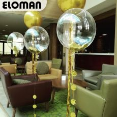 2017 new round super clear balloons 18-24inch birthday wedding party drecoration bobo ball balloons christmas party supplies