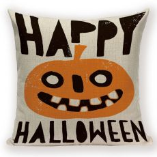 Happy Halloween Pumpkin Bat Magic Girl Flying Carpet Ghosts Decor Cushion Cover Halloween Decoration Horror House Party Supplies