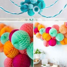 Pretty 10inch 25cm Honeycomb Ball Paper Flower DIY Hanging Paper Ball for Wedding Birthday Party Decoration Baby Shower Supplies