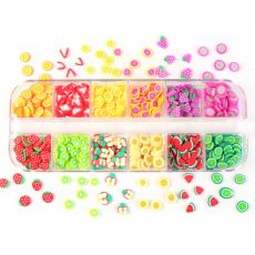 12 Colors/Box 3D Fruit Tiny Slices Sticker Mixed Style Polymer Clay Nail Art Decoration DIY Designs Nails Tips Gel Accessories