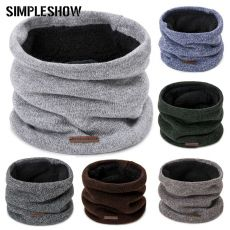 Fashion Men Winter Scarf woman Knit Winter Warm Ring Scarf For childrens Cotton Thick Plus Velvet Scarf Unisex Scarves