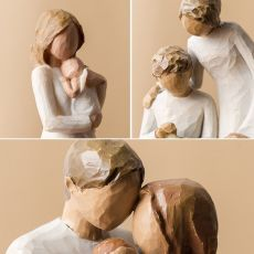 Nordic Love Family Resin Figurines Ornaments  Family Happy Time Mum Dad and Children Home Decoration Accessories For Living Room