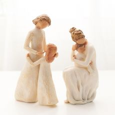 christmas figurines home decoration accessories for living room modern Home decor Nordic style love family figure crafts gift