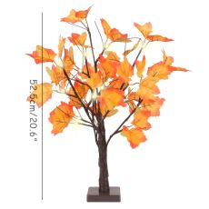 Halloween Decoration Artificial Autumn Maple LED Tree Battery Operated Table Lights Lamp Wedding Thanksgiving Home Decorations