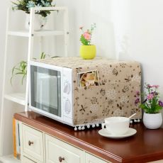 Microwave Cover Microwave Oven Hood Oil Dust Cover with Storage Bag Kitchen Accessories Supplies Home Decoration