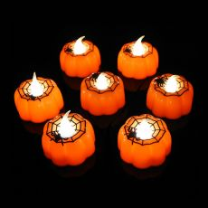 1/2/3pcs Pumpkin Candle Light Halloween Party Supplies LED Lights Lantern Lamp Ornaments Props Halloween Decorations for Home