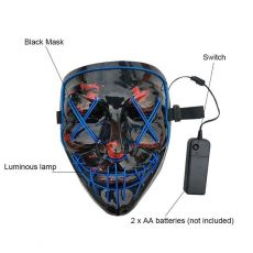 Halloween Mask Led Mask Party Masque Masquerade Masks Neon  Light Glow In The Dark Horror Glowing Masker Purge