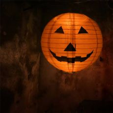 Halloween Paper Pumpkin Hanging Lantern Lights Ornaments DIY Holiday Party Decor Scary Haloween Party Suppplies 20/30/40cm