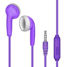 2020Universal 3.5mm Mic Wired Headset In-Ear Stereo Bass Headphone Earphone ABS Wired Sport Neckband Earphone For Sansung Iphone
