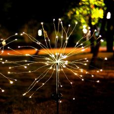 90LED Solar Powered Firework Lights IP44 Waterproof Outdoor Lamp for Landscape Path Lawn Garden Outdoor Decoration