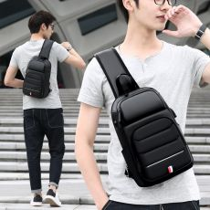 Male Crossbody Bags for fashion Shoulder Bags USB Charging Messenger Sling Bag Chest Bag Oxford Single Shoulder Strap Pack 2020
