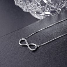 Sodrov Necklace Jewelry Pendant 925 Silver For Women Link Chain Zircon Fine Party Lucky 8 Chian