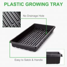 6 Packs Plastic Growing Trays Seed Tray Seedling Starter for Greenhouse Hydroponics Seedlings Plant Germination Starter Trays