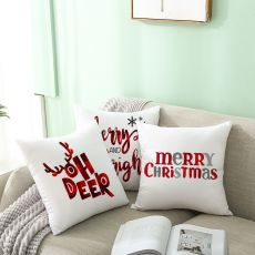 45cm Merry Christmas Cushion Cover Pillowcase 2020 Christmas Decorations For Home Xmas Noel Ornament Happy New Year 2021