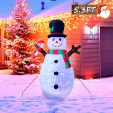 1.5m Inflatable Snowman Blow Up Christmas Decorations with LED Lights for Home Yard Shopping Malls Xmas Party Decor EU Plug
