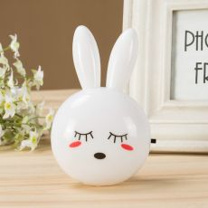 Cartoon Rabbit LED Night Light AC110-220V Switch Wall Night Lamp With US Plug Gifts For Kid/Baby/Children Bedroom Bedside Lamp