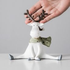 For home decoration accessories for living room Animal figurines decoration christmas gift deer figurine Modern Crafts ornaments
