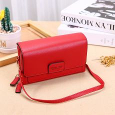 Ladies High Quality Ladies PU Leather Vertical Purse Multifunctional Standard Clutch Messenger Bag Fashion Casual Bag 9060