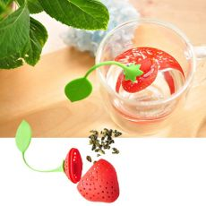 1pc Strawberry Tea Infuser Stainless Steel Tea Ball Leaf Tea Strainer for Brewing Device Herbal Spice Filter Kitchen Tools