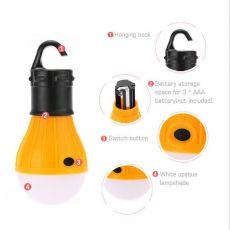 4 Colors Lightweight Outdoor Mini Camping Lamp Environmental Ball Light Bulb Tent Accessories 3 Leds Hanging Hiking Lights
