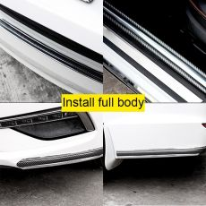 Auto Bumper Strip Car Sticker Carbon Fiber Film High Glossy Wrap Film Anti-collision Door Sill Protector Car Styling Accessories