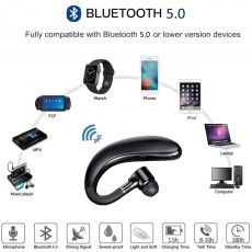 Bluetooth Earphones headphones Handsfree Earloop Wireless headset Drive Call Sports Earphones With Mic For All Smart Phones