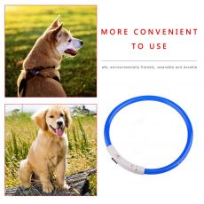Dog collar USB rechargeable light-emitting pet collar TPU can cut dog safety light suitable  for     small and medium dogs