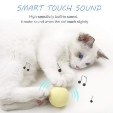 Interactive Cat Toys Smart Touch Sound Ball Catnip Pet Training Supplies Simulation Squeaker Products Toy for Cats Kitten Kitty