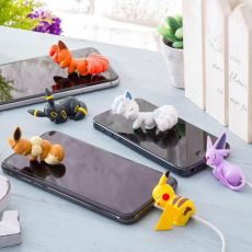 Mini Cute Eevee Meowth Cartoon Bite Animal Cable Bite Toys Data Charger Wire Winder Cable Protector For Iphone Android Toy