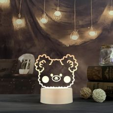 Night Light Bedside Lamp Bear Color Light Ornaments Children Cute Night Lamp Bedroom Kid Light Gift Pressure Reducing Toy