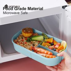 WORTHBUY Japanese Plastic Lunch Box For Kids School Microwave Bento Box With Compartment Tableware Leak-Proof Food Container Box