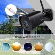 5MP Wifi IP Camera ONVIF 1080P Wireless Wired CCTV Bullet Camera Outdoor Two Way Audio IR 20m P2P Wifi Camera TF Card Slot iCsee