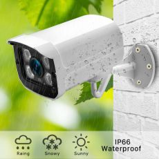 ANBIUX Full HD 1080P 2MP 3MP 5MP Outdoor Bullet Surveillance POE IP Camera ONVIF 2.8mm Wide Angle for CCTV Netwrok Camera System