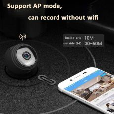 Hebeiros HD 1080P Ultra Mini Size Portable 4K Battery Camera Magnetic Base Support TF Card AP Mode Wifi IP Security CCTV Camera