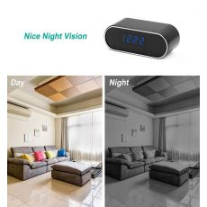 Hebeiros HD 2MP Battery Clock Camera Mini IP WiFi Camera 1080P P2P Camcorder Night Vision Alarm Motion Remote CCTV Camera
