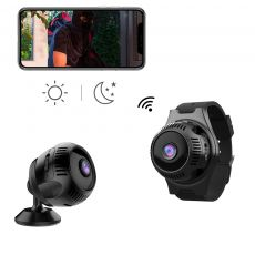 Wearable Wireless Mini WIFI Camera HD 4K 1080P Micro LED Video IP Camera Infrared Night Vision Network Intelligent Monitoring